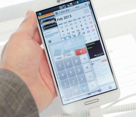 LG Optimus G Pro stor skærm