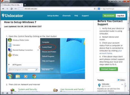 Unlocator - guide til Windows 7