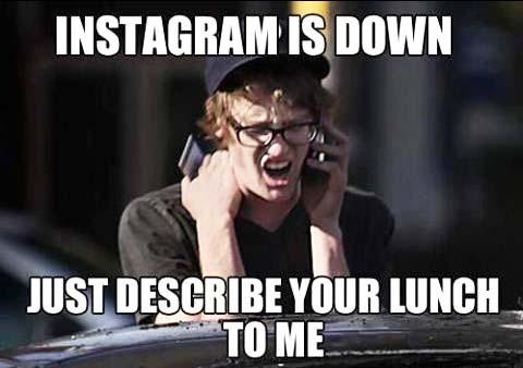 Instagram er nede - Bare beskriv din frokost