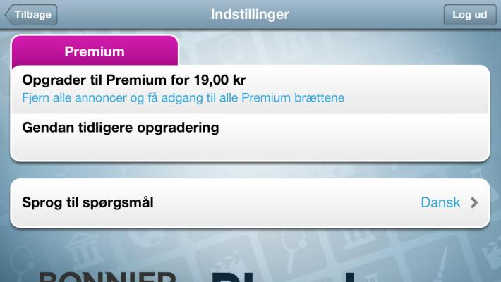 Opgradering til Premium