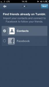 FInd kontakter på Tumblr