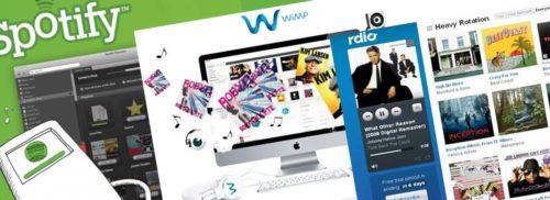 Musikstreaming - Spotify, Wimp, Rdio