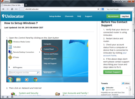 Unlocator - guide til Windows 7
